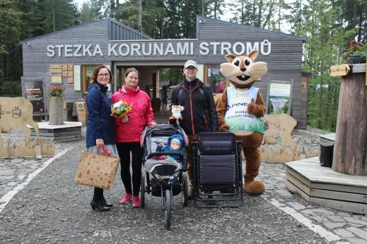 Stezka korunami stromů v Krkonoších  přivítala milióntého návštěvníka